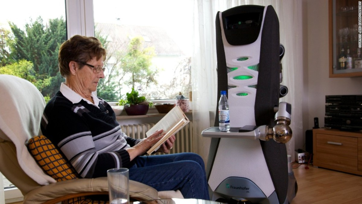 One of the more positive roles robots can play is by assisting the elderly with their daily routines.