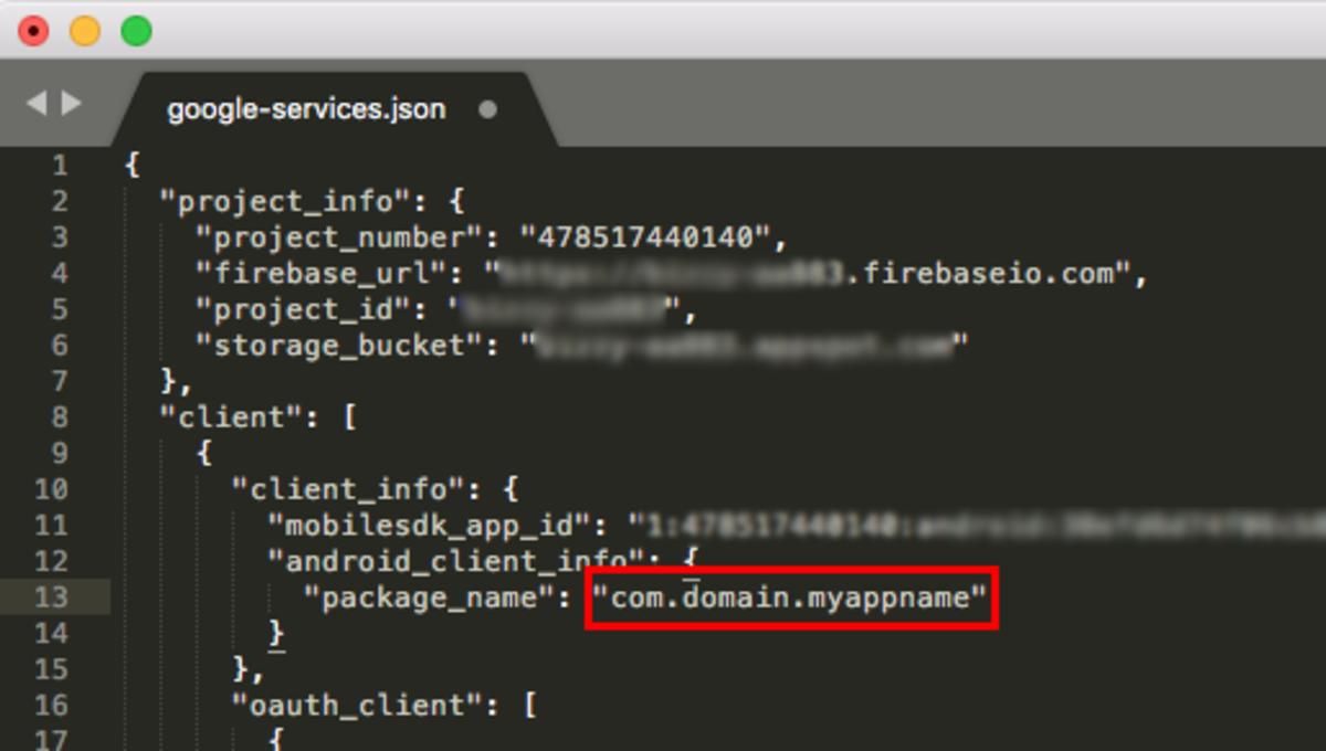 google-services.json file