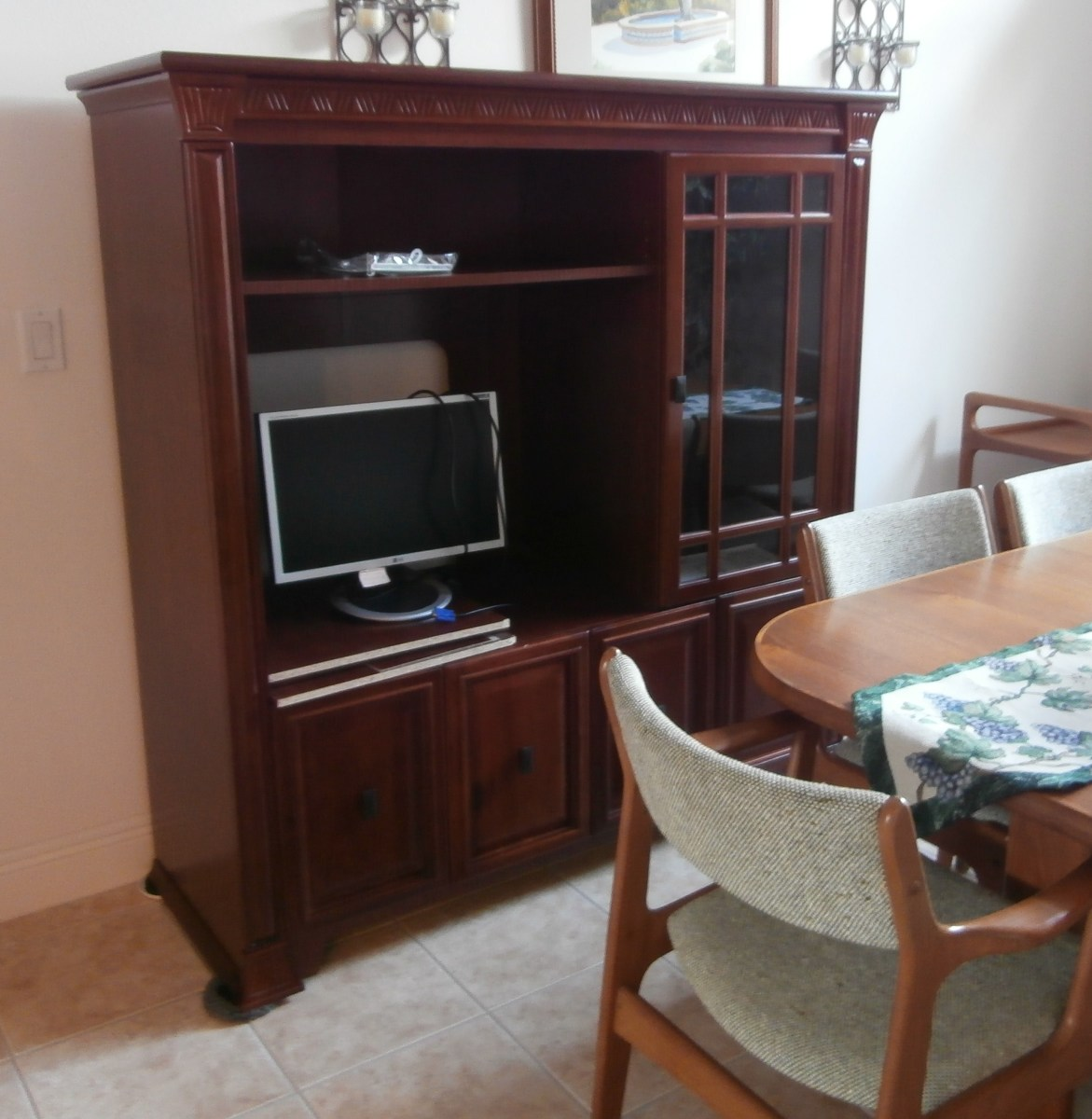 These chunky pieces of furniture fell out-of-fashion when flat screen televisions no longer fit them.