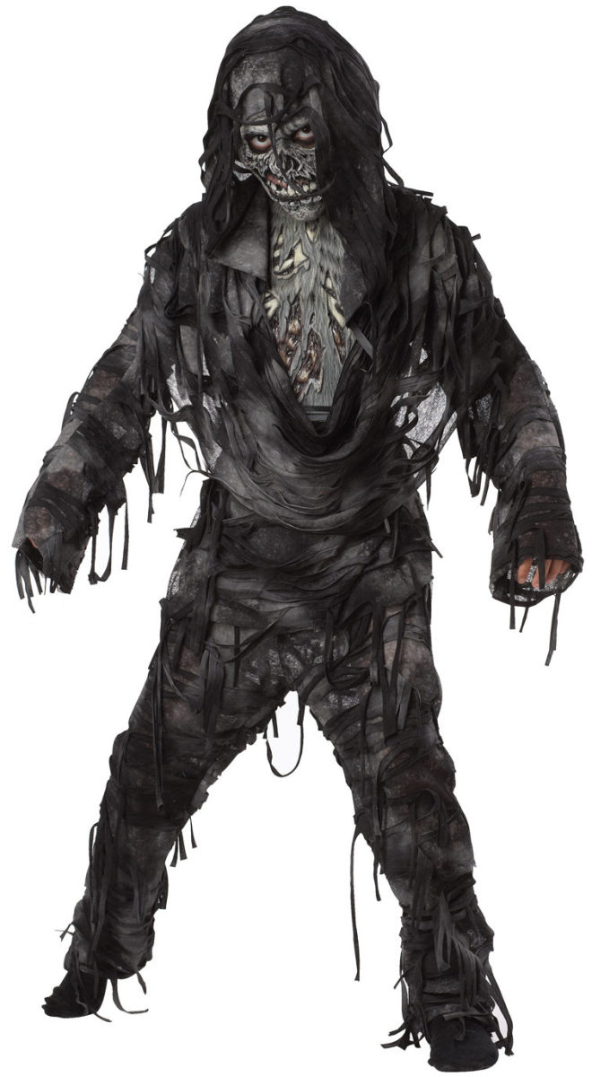 Scare the living daylights out of your neighbors with this frightening monster costume for Halloween.