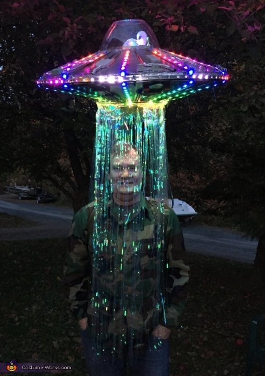 This guy is right in the middle of an alien abduction.