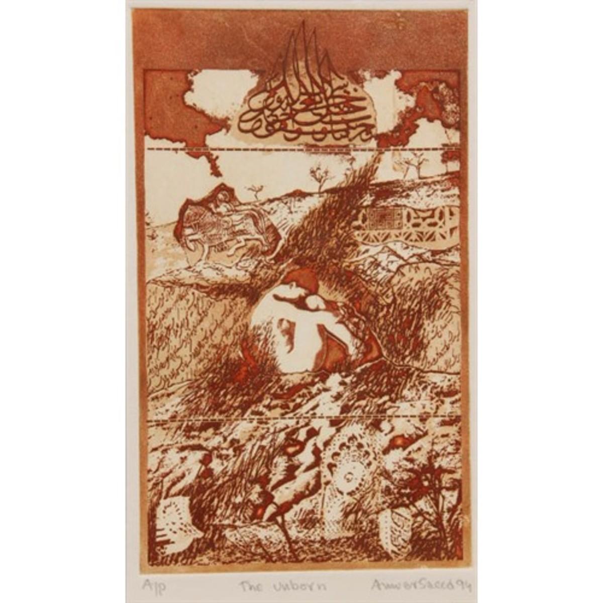"""Unborn"" (1994), etching/aqua tint"