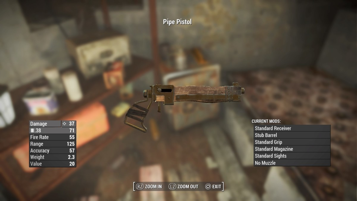 The hand-crafted Pipe Pistol is perhaps, the most modifiable weapon in the game!