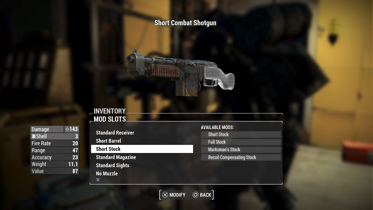 The Short Combat Shotgun only bears a few unique features versus its cousin, the Double Barrel Shotgun.