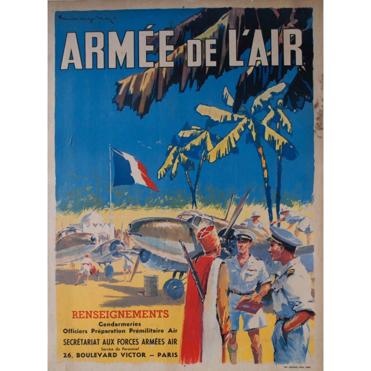 A 1947 poster, but still looking reasonably plausible for a French 1940 recruitment poster.