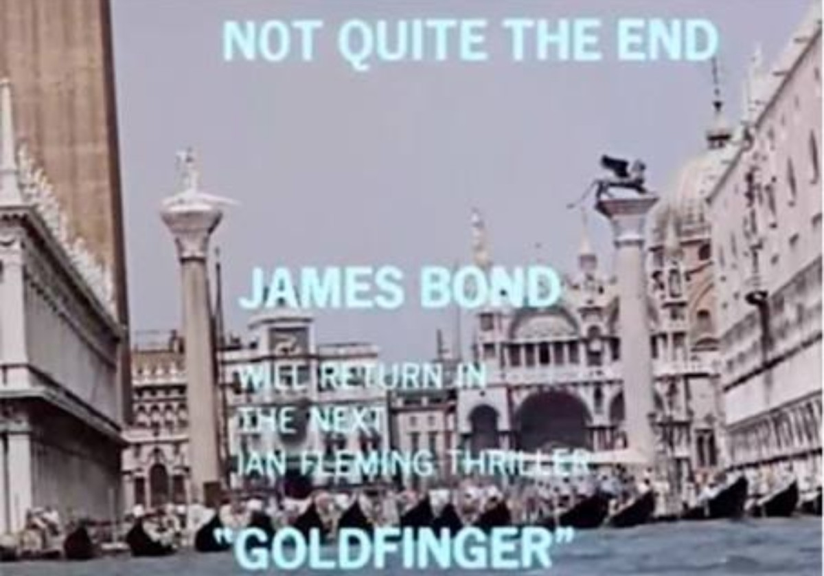 "The title card in ""From Russia With Love"" from distributors United Artists."