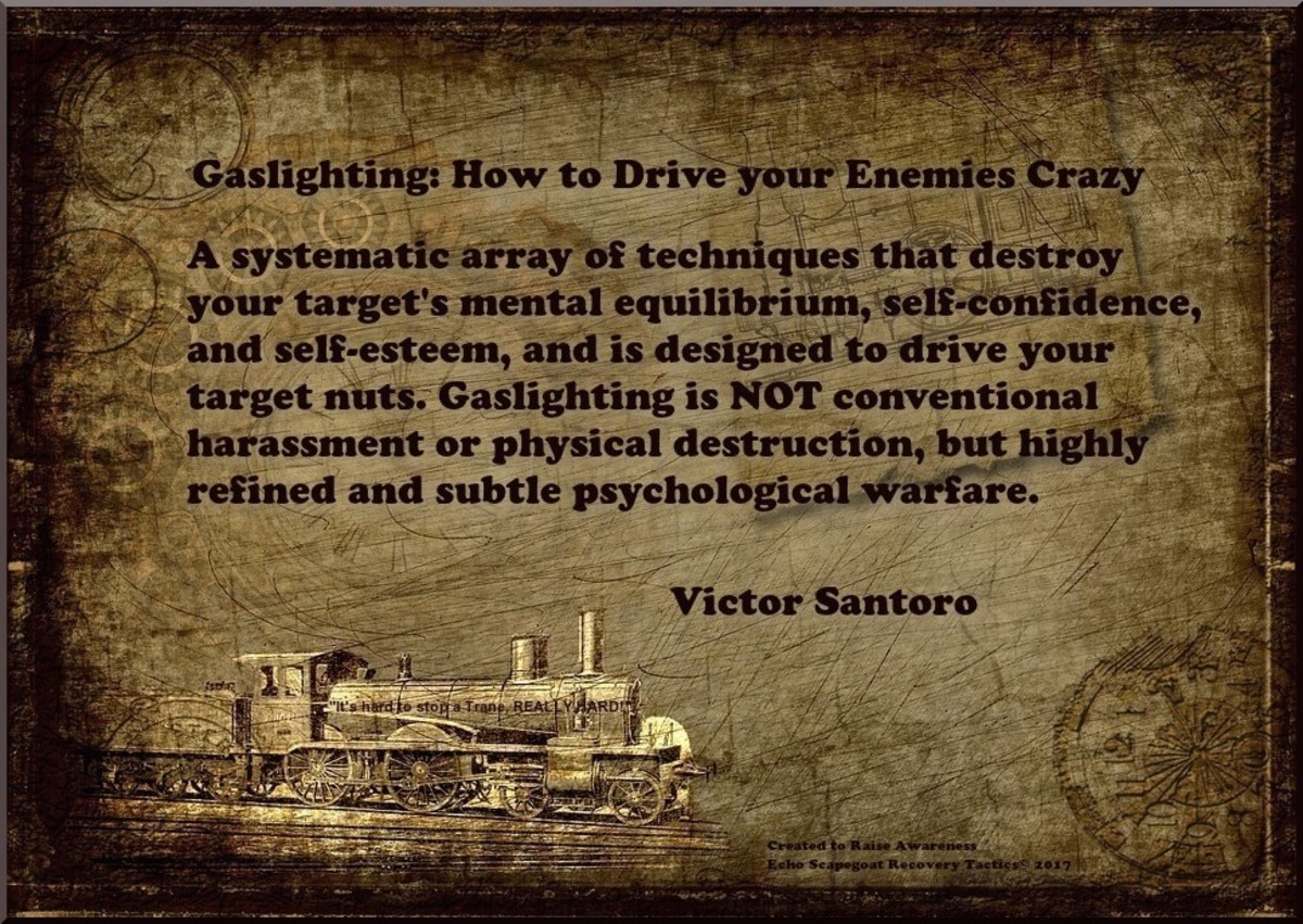 Gaslighting Quote by Victor Santoro