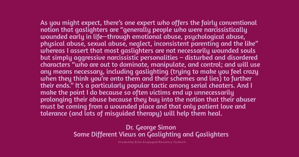 Dr. George Simon Quote