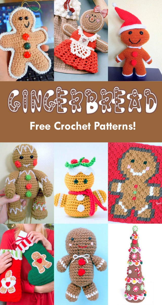 Free Amigurumi Christmas Gingerbread Crochet Patterns