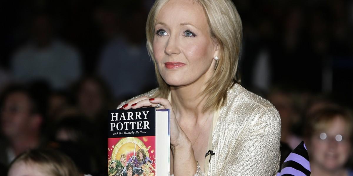 J. K. Rowling at book signing