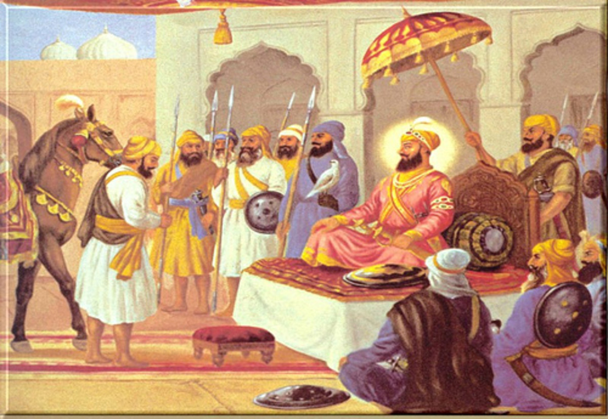 Bidhi Chand meets the Guru Hargobind