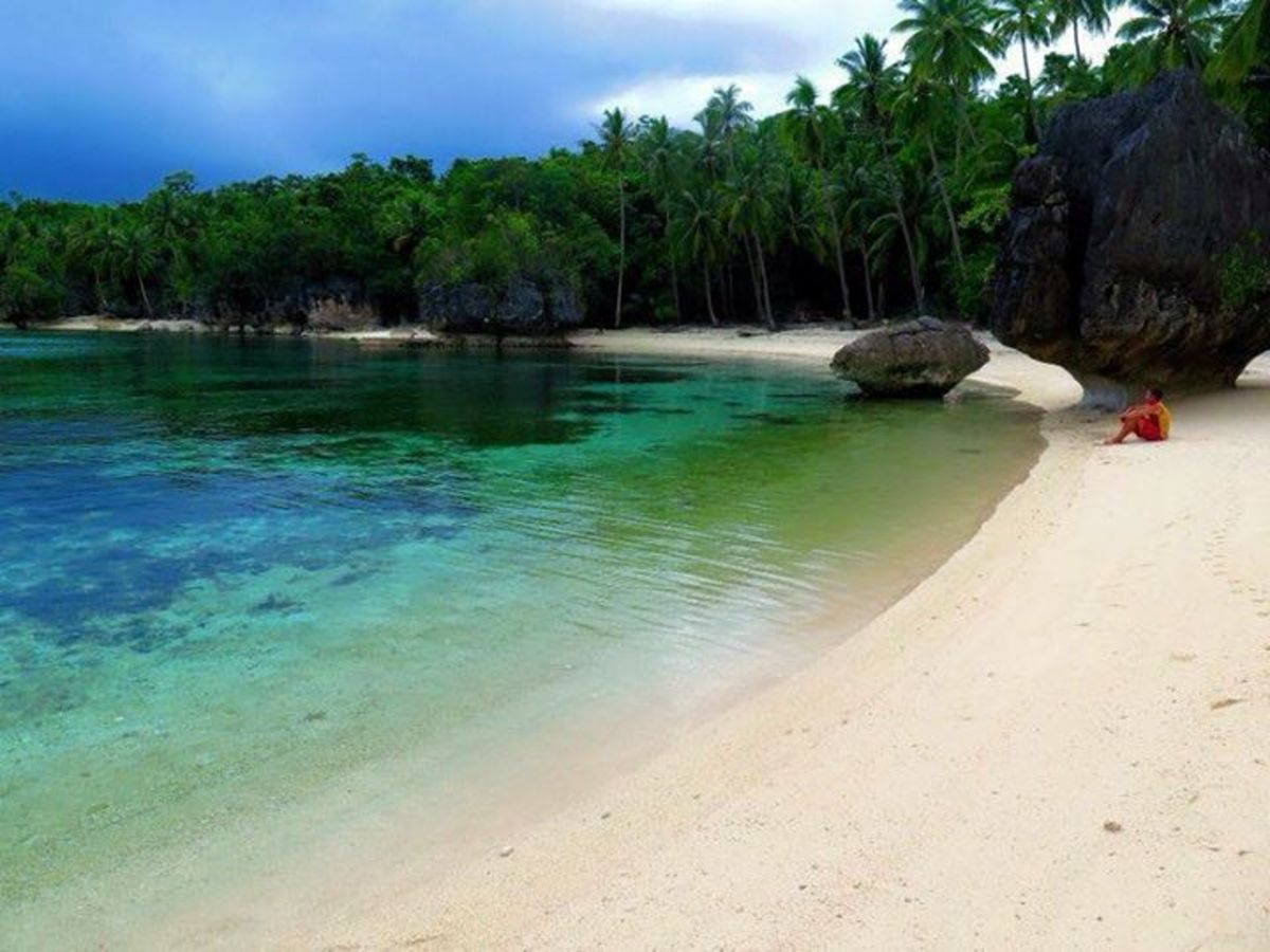 Emerald waters and white sands...Dinagat islands