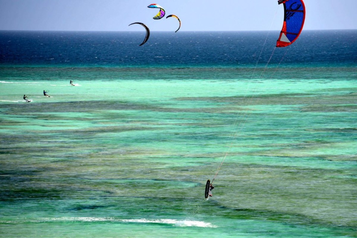 Seco Island is also ideal for kitesurfing as it is always rigged with strong winds...