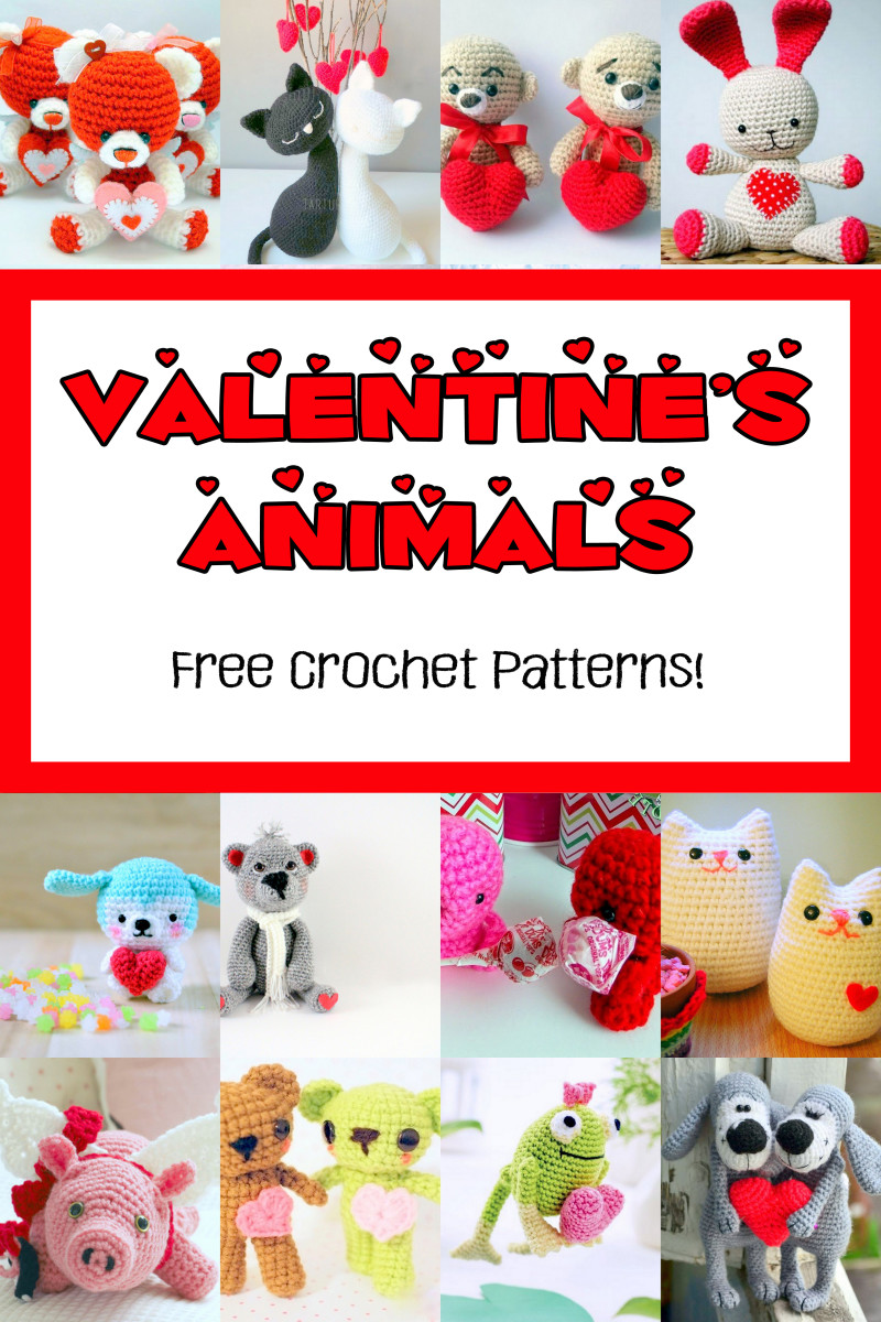 19 Free Valentine's Animals Crochet Patterns