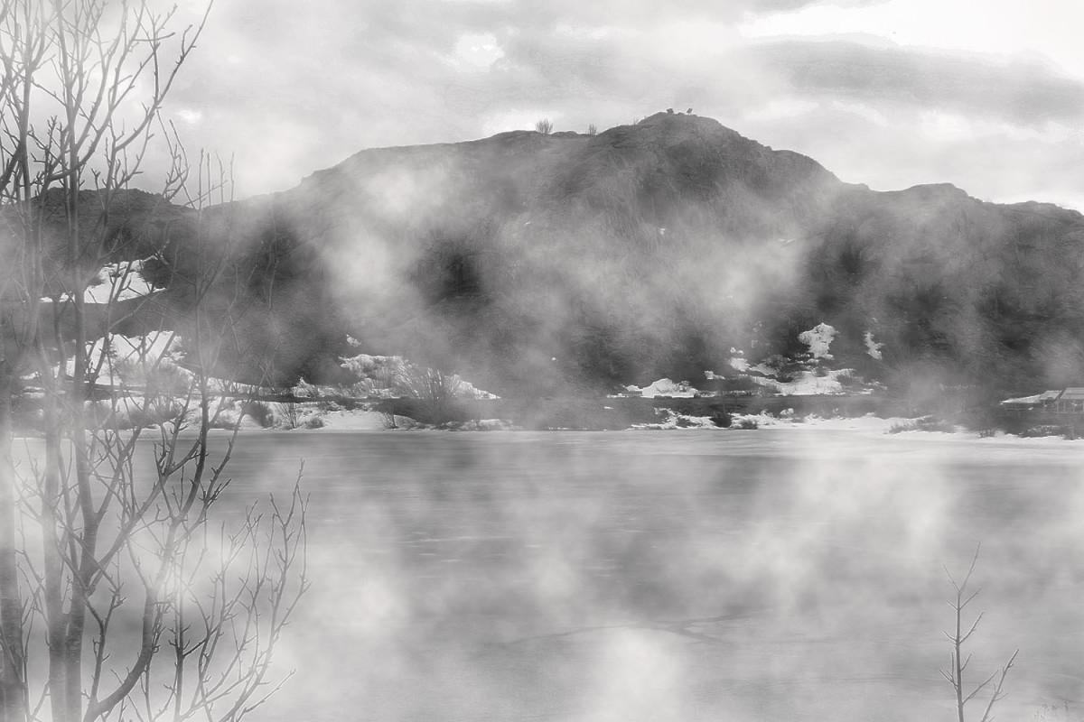 Looking across Deadman's Pond toward Gibbet Hill.