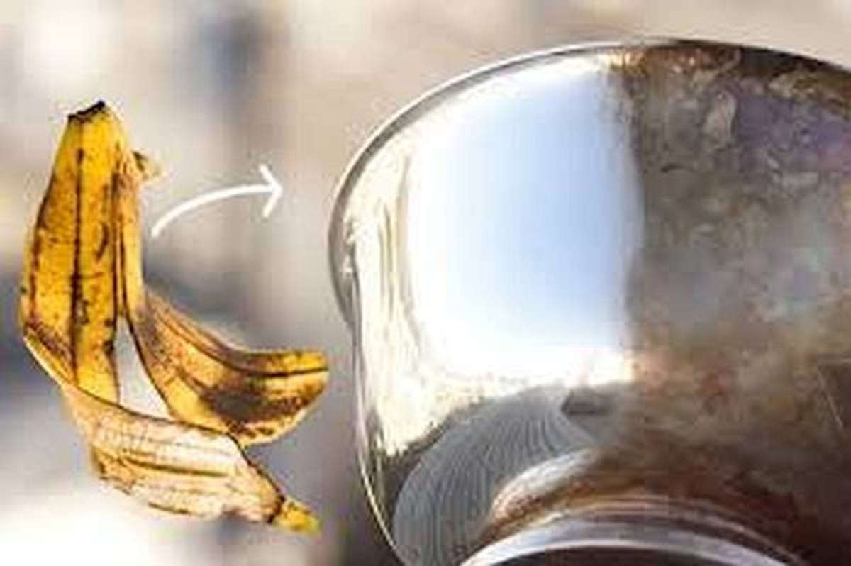 Polish your aluminum pots and pans with banana peel to make them shine.