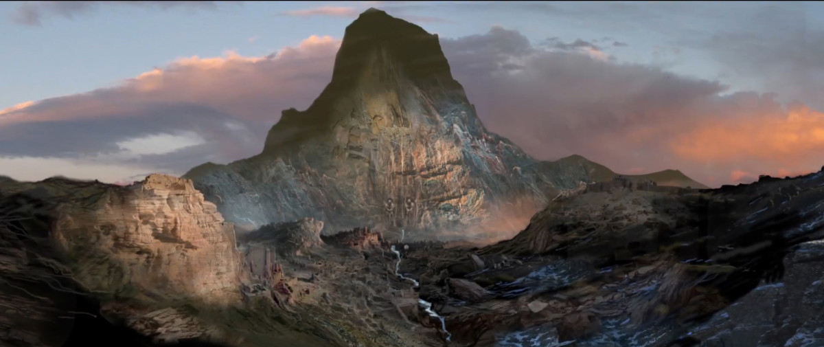 The imposing Lonely Mountain.