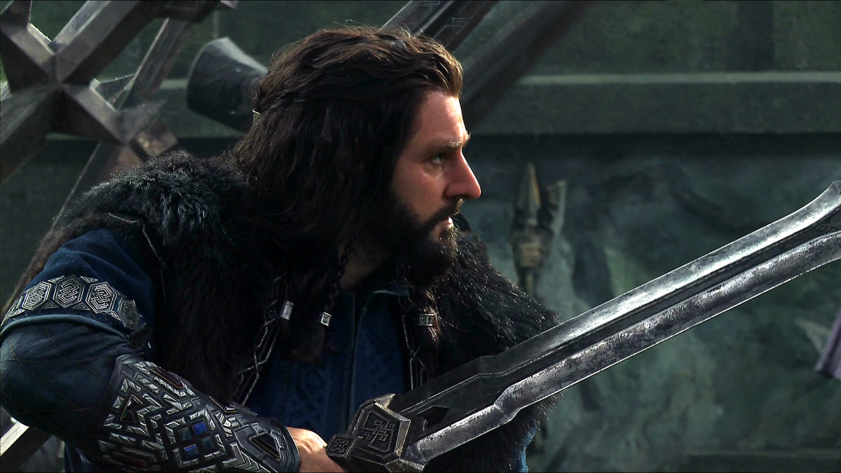 The young Thorin busting some moves.