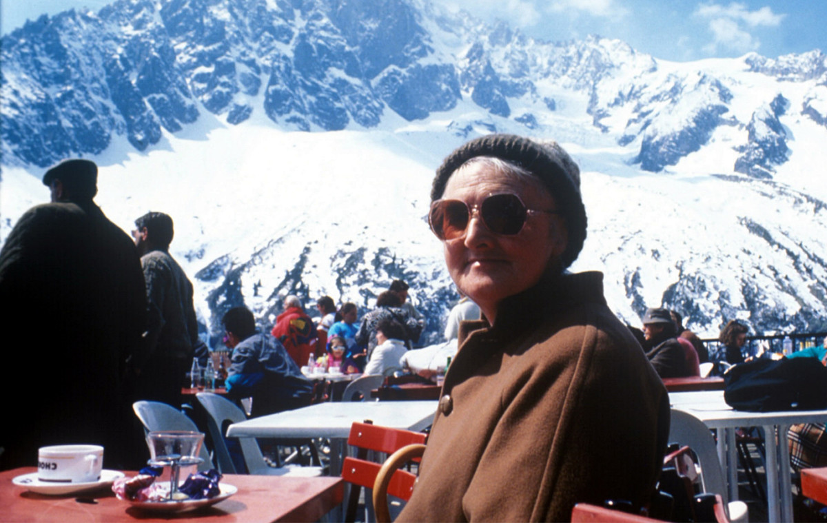 "Hannah in the Alps on her tour of Europe, ""Innocent Abroad"" would show her to be anything but innocent, just not far-travelled"
