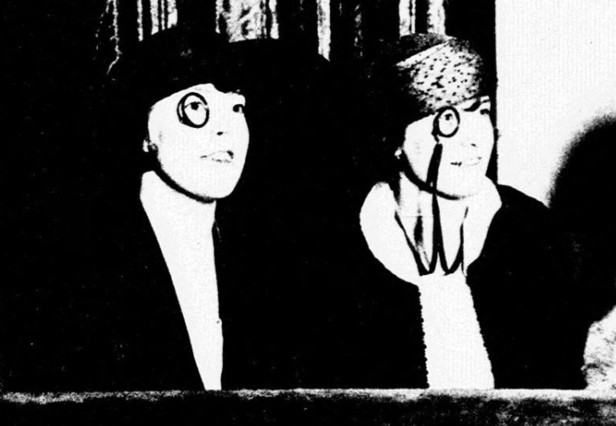 Women wearing monocles.