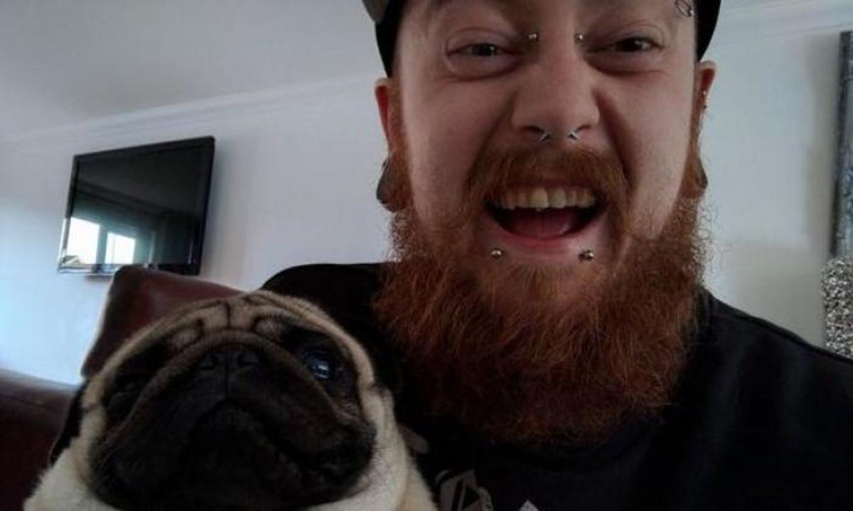 Meechan and his girlfriend's dog