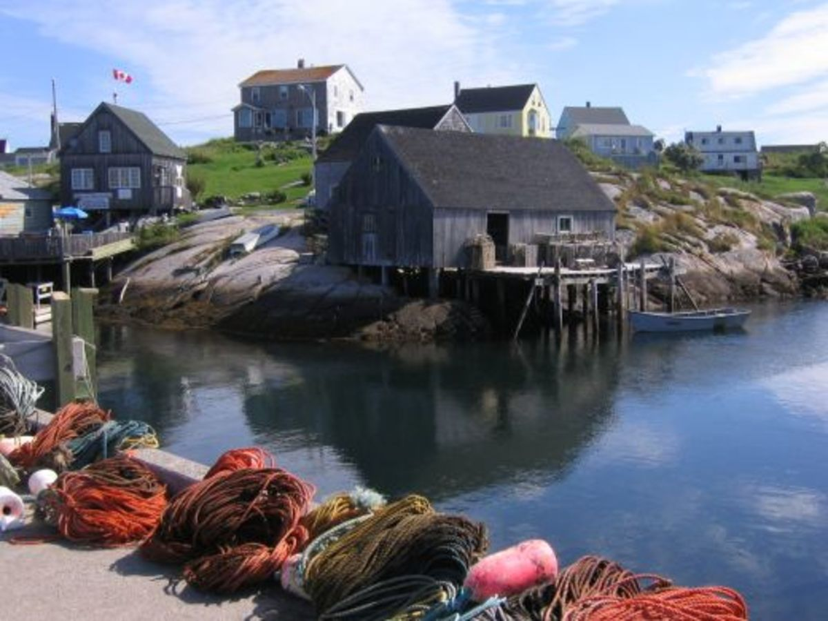 The Harbor at Peggy's Cove