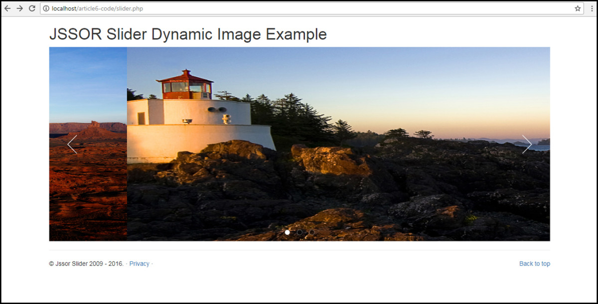 slider.php file displaying image in JSSOR slider from database
