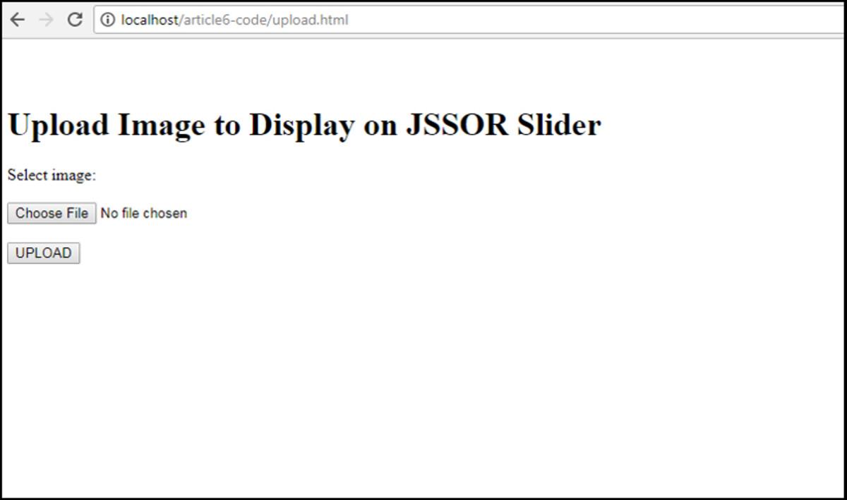 HTML Form to Upload Image