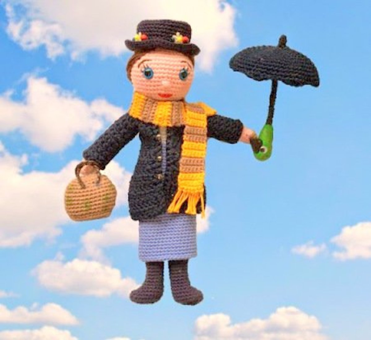 Mary Poppins Amigurumi Doll: Free Crochet Pattern!