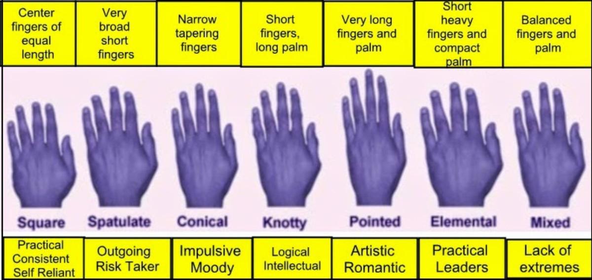 Types of hands.