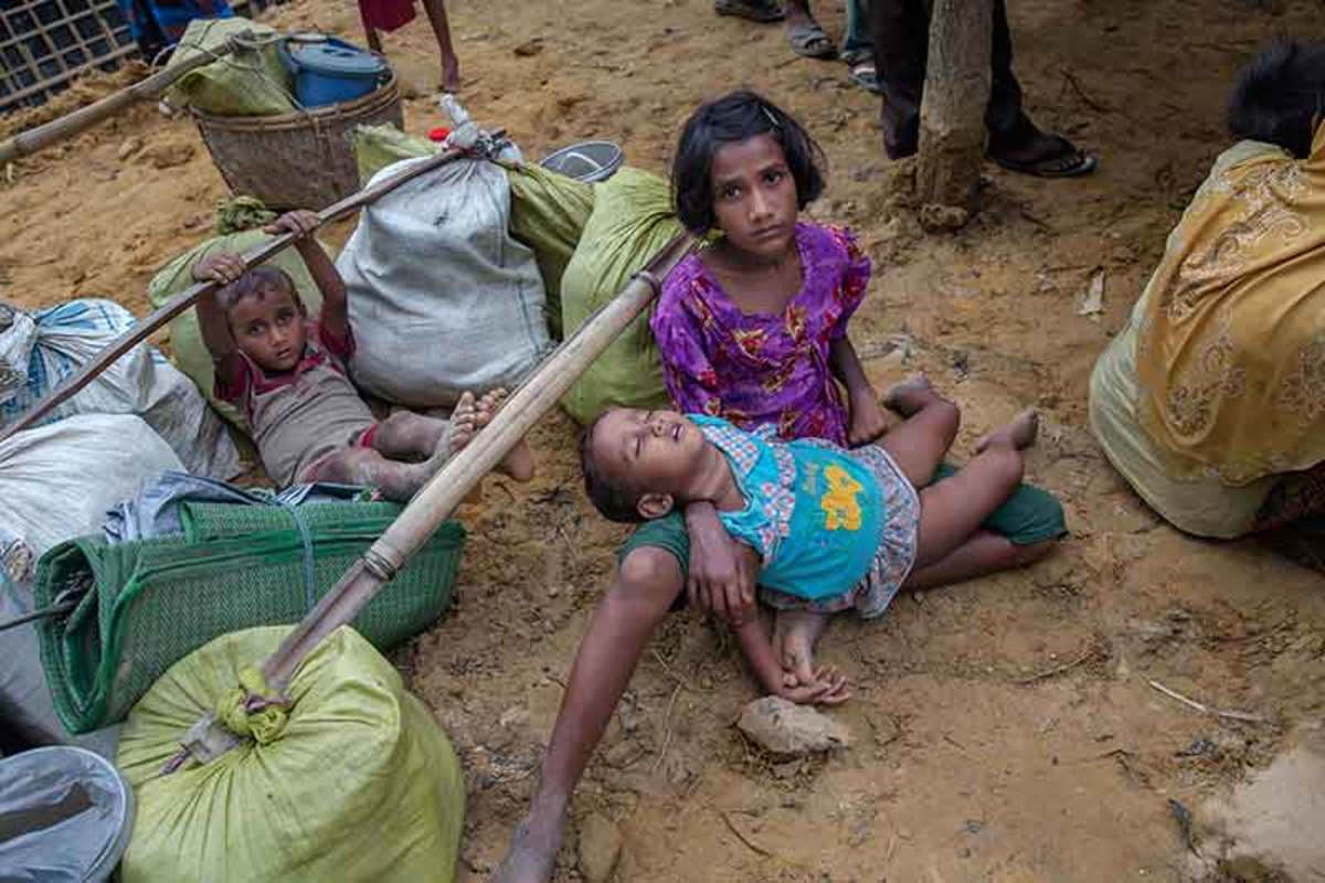 The Rohingya crisis in Myanmar drove hundreds of thousands of people, including children, out of their house and into the despair