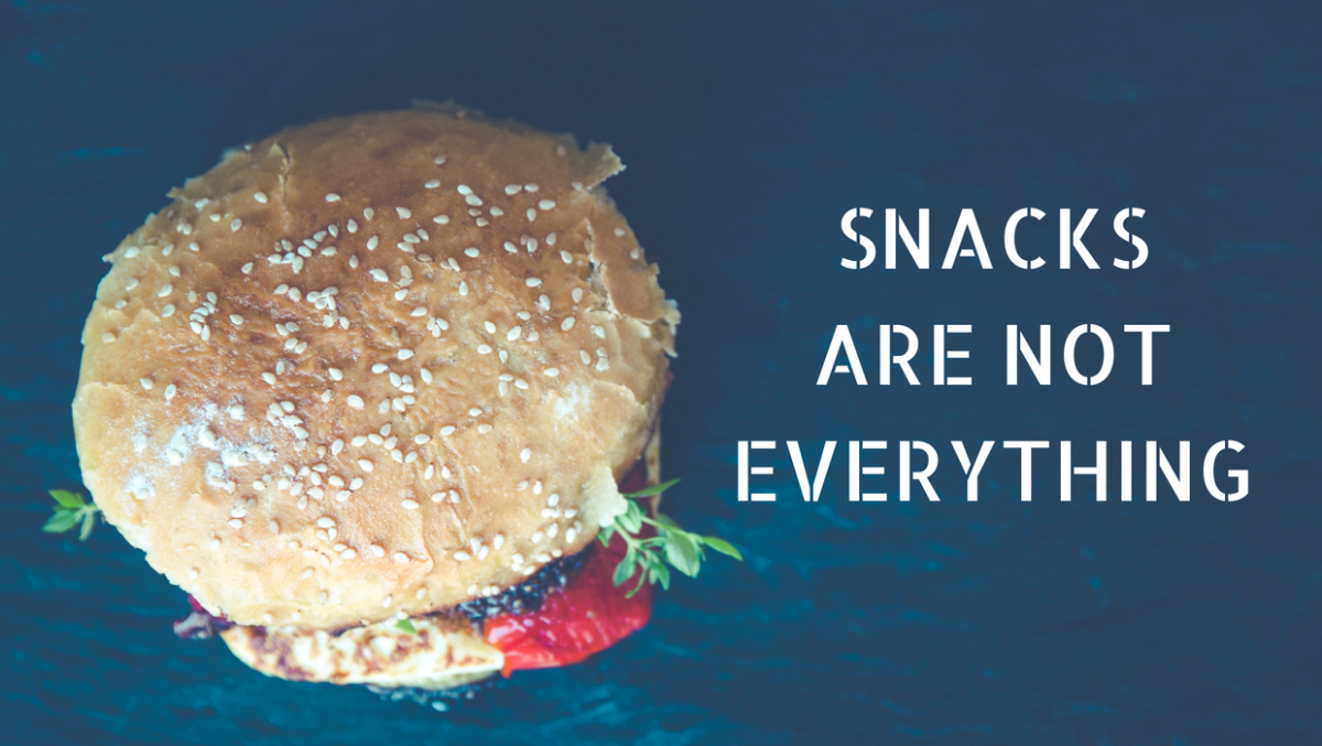 Snacks Are Not Everything - Photo by Markus Spiske on Unsplash and Edited by Cromwells via Canva