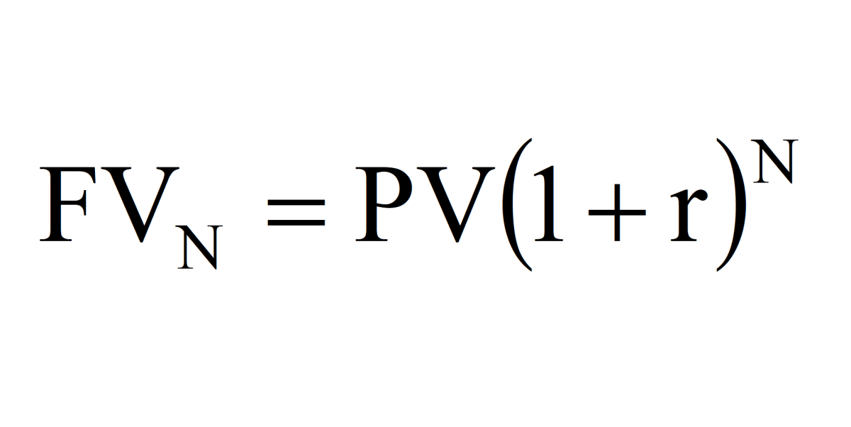 Future value time value of money formula. The future value formula is the present value times the accumulation function.