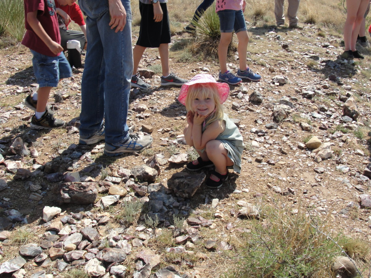 The kids loved locating the various flint quarries that had been used by local tribes around the 1400s. The kids were delighted that the park rangers gave them pieces of flint and obsidian to take home as souvenirs.