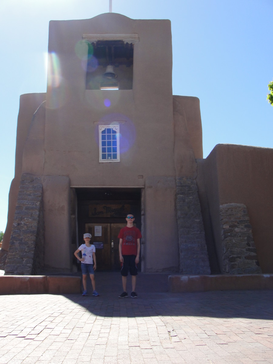 About a block away is San Miguel Church, which claims to be the oldest church in America, circa 1610.