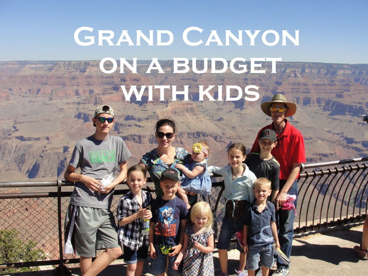 Our first stop at the Grand Canyon: Mather Point