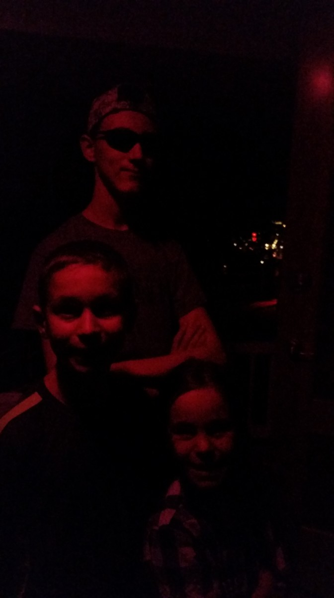 In the evening we waited in a long line at Lowell Observatory to view Jupiter and a few of its moons.