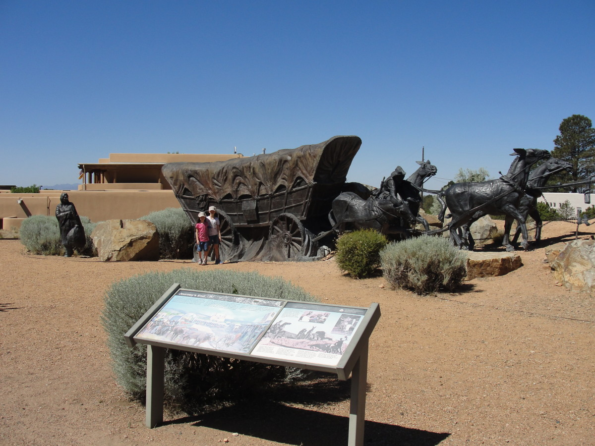 We drove down some of the original Santa Fe Trail. This is the monument at the end of the original trial.