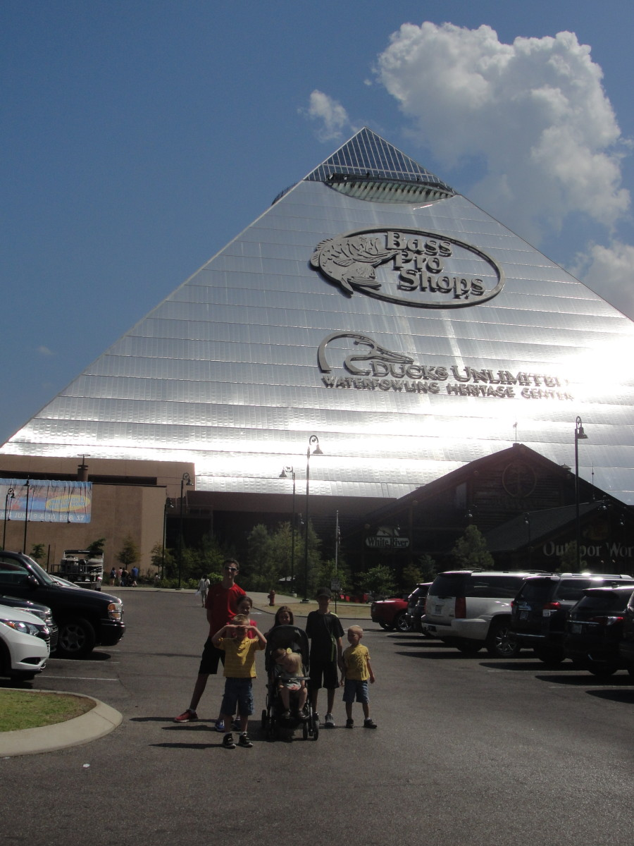 Next we visited a place that was of a bit more of interest to my kids: Bass Pro Shop, housed in the Memphis Pyramid. We did go inside this one!
