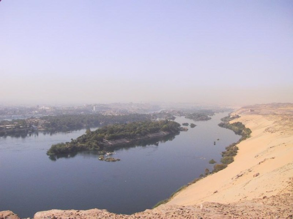 River Nile at Aswan, with Kitchener's Island.