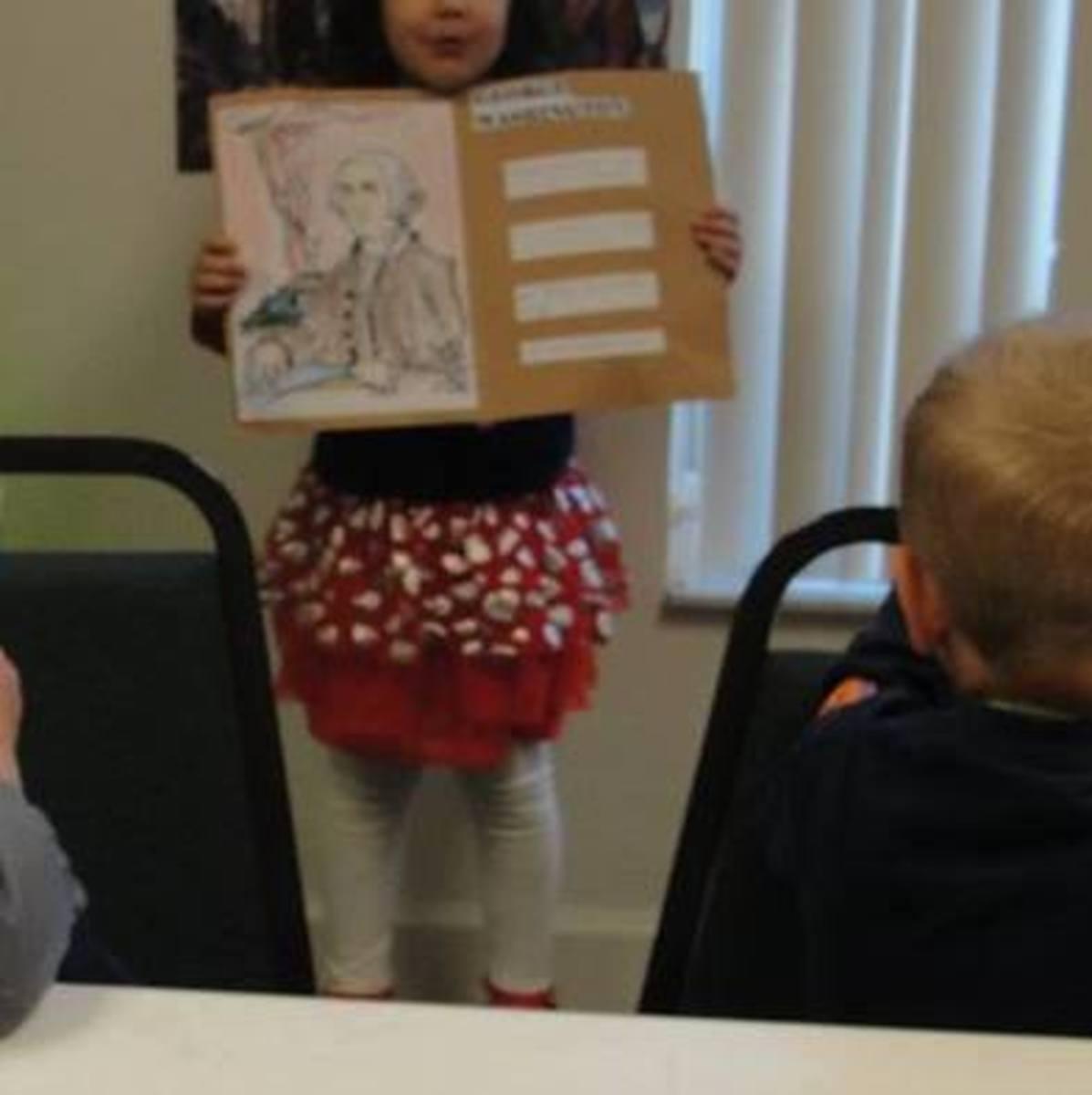 Student biography presentation on George Washington