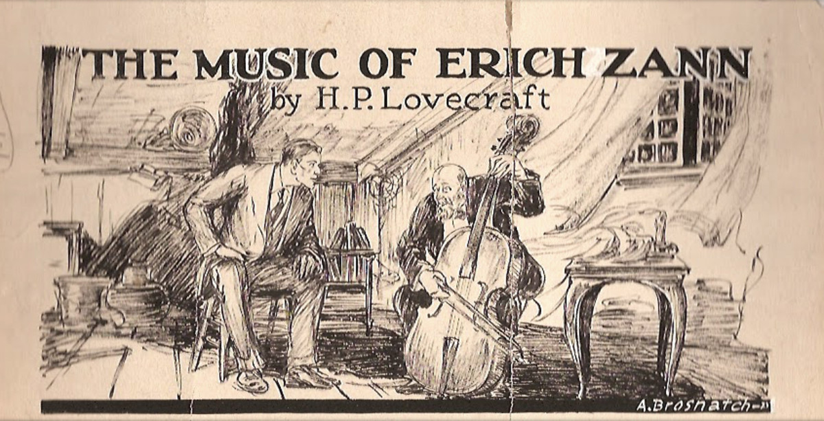 Erich Zann and the narrator; an illustration by  Andrew Brosnatch