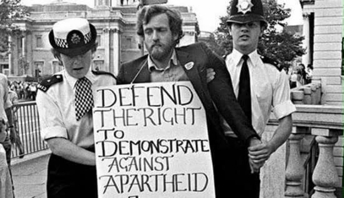 Protesting South Africa's apartheid