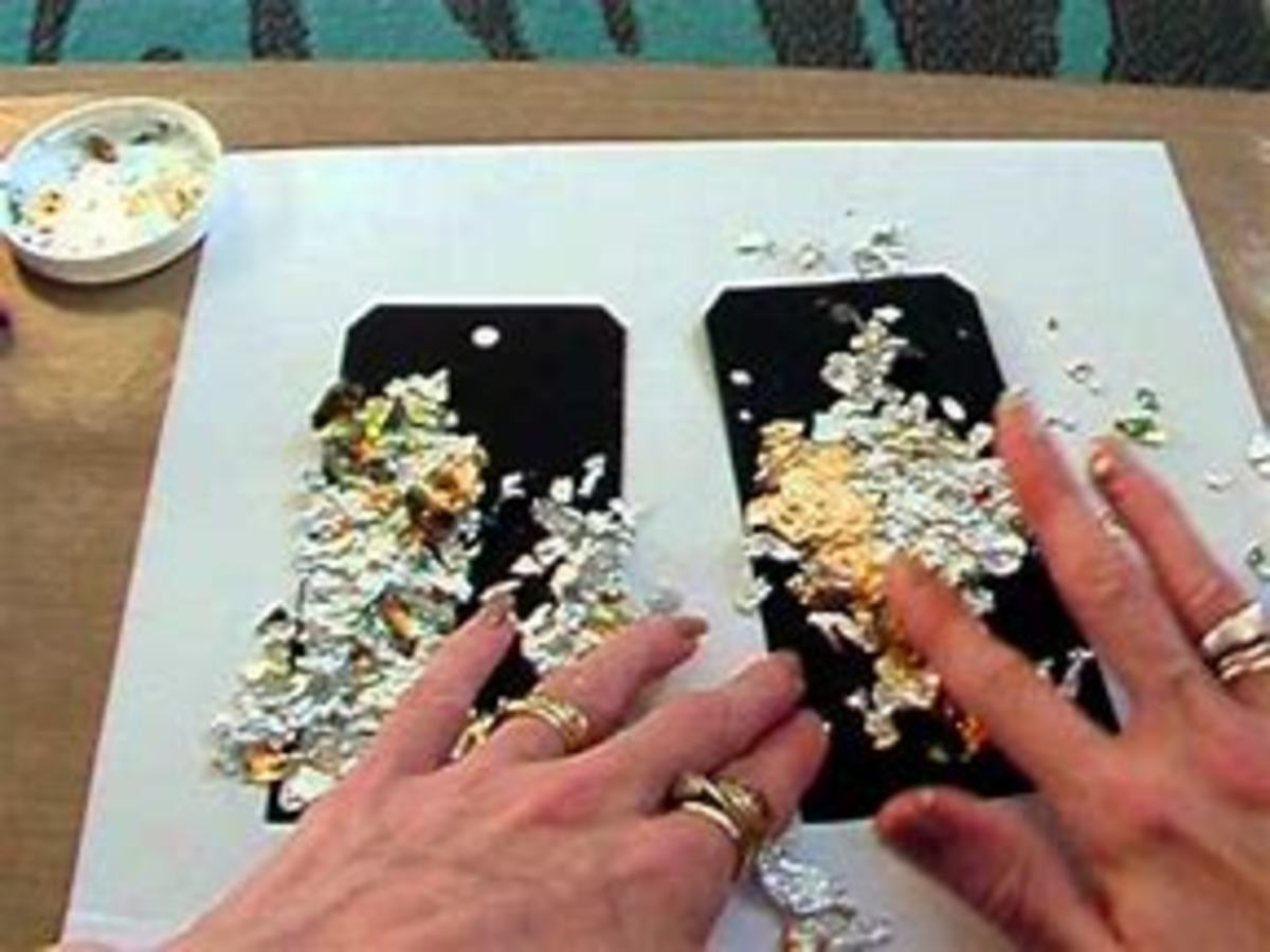 It is so easy to use gilding flakes. All you are doing is burnishing (rubbing them on )