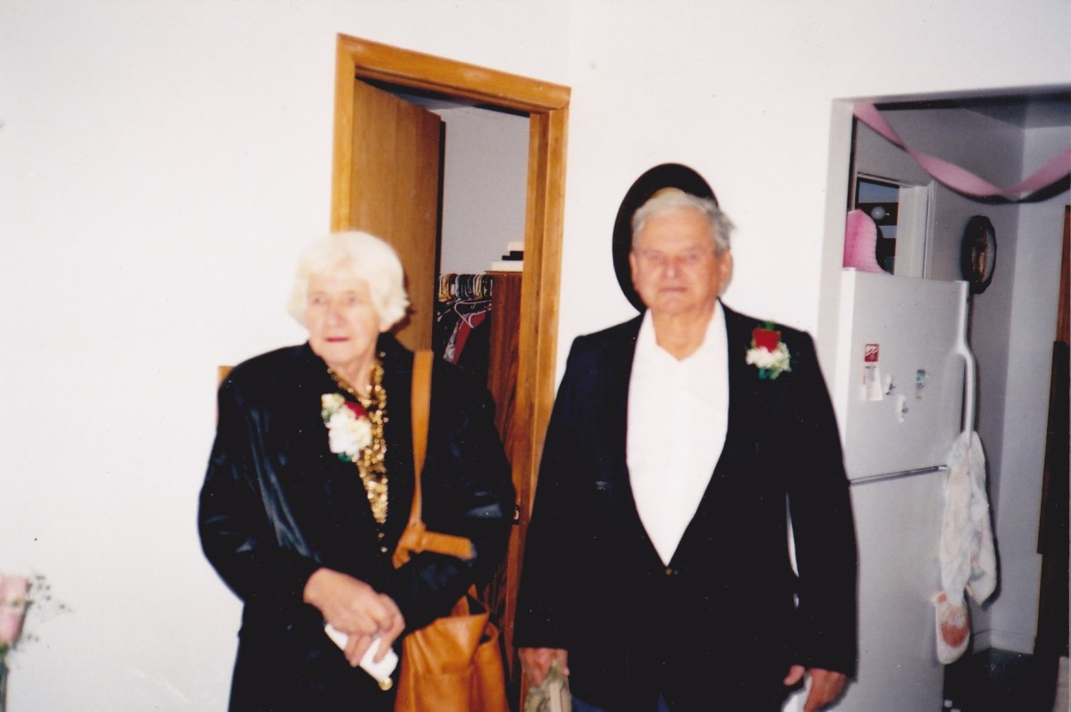 Mom and dad in their 80s.  Picture taken in November 2002.