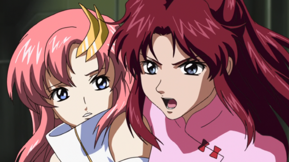 Flay dragging Lacus.