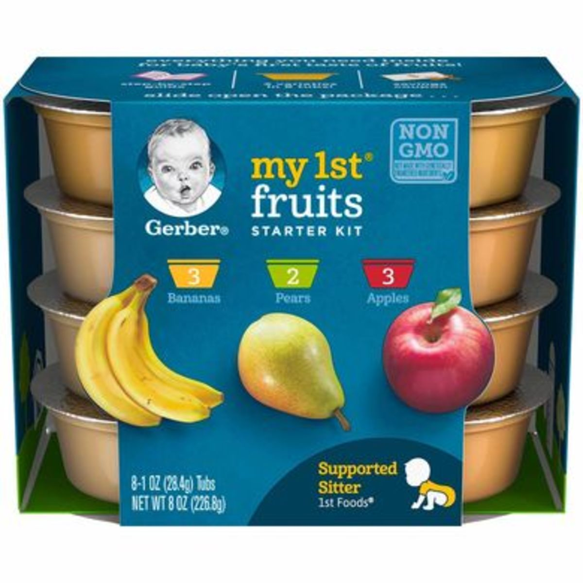 """The little yellow """"supported sitter"""" 1st foods mark on the lower right hand corner is what you'll want to look for when picking up your baby food. Those will be the ones you'll want to try first."""