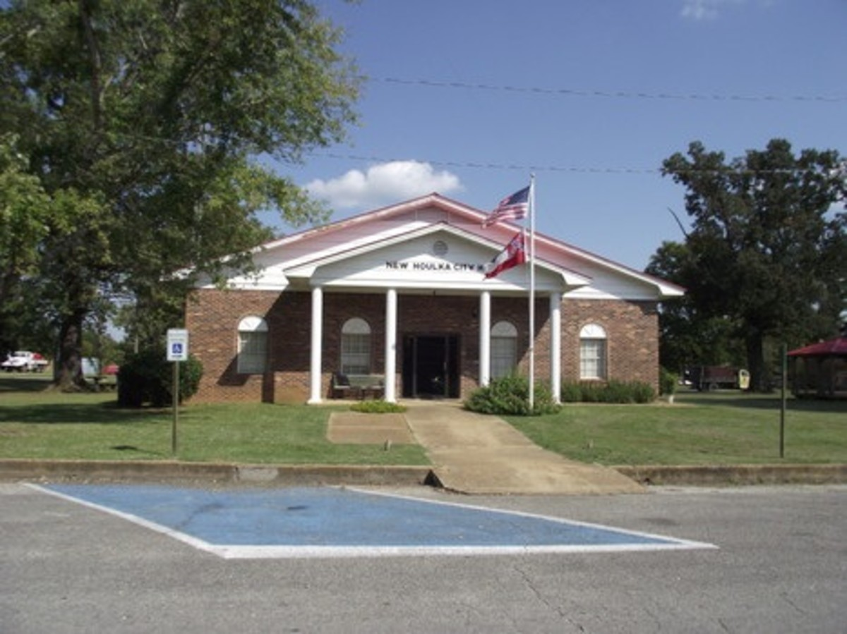 The New Houlka City Hall was finished in 1976.