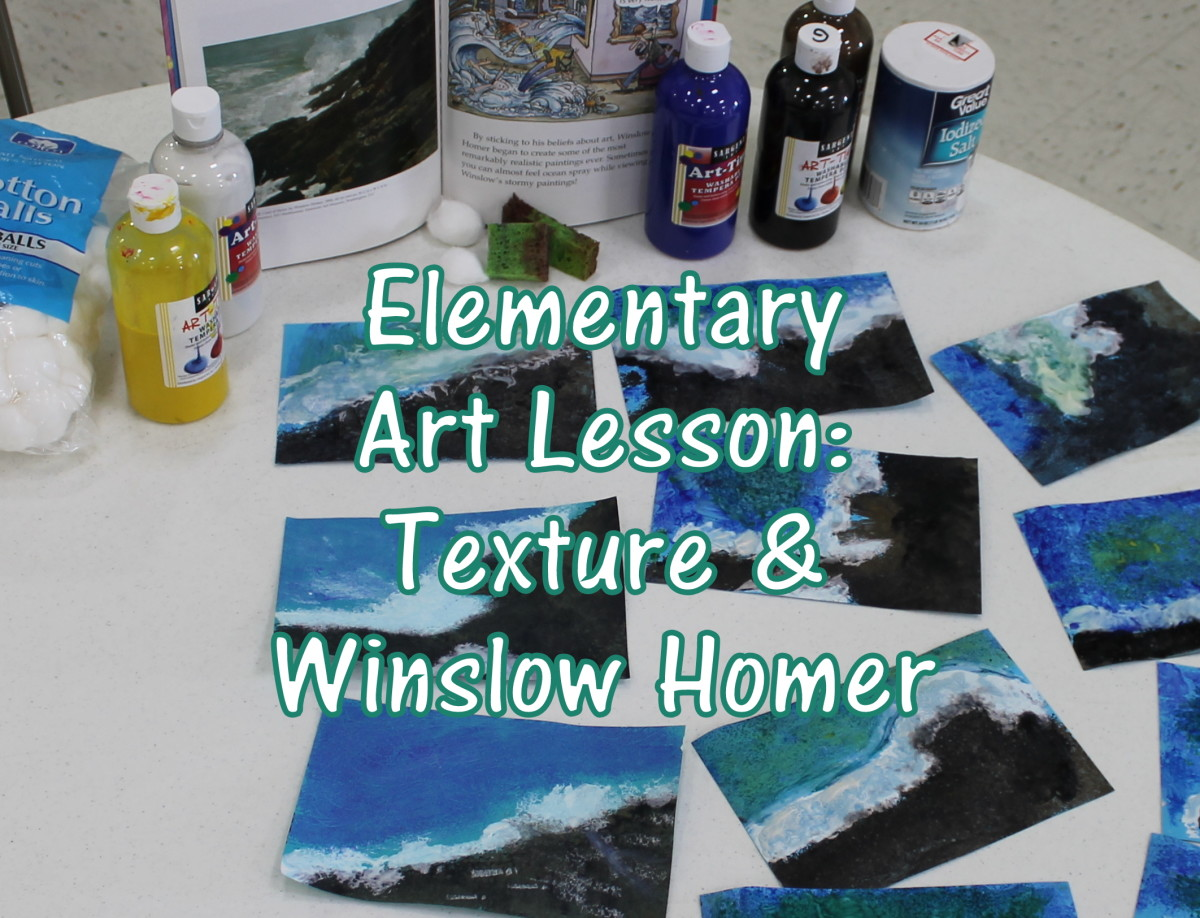 Texture & Winslow Homer Art Lesson for Early Elementary