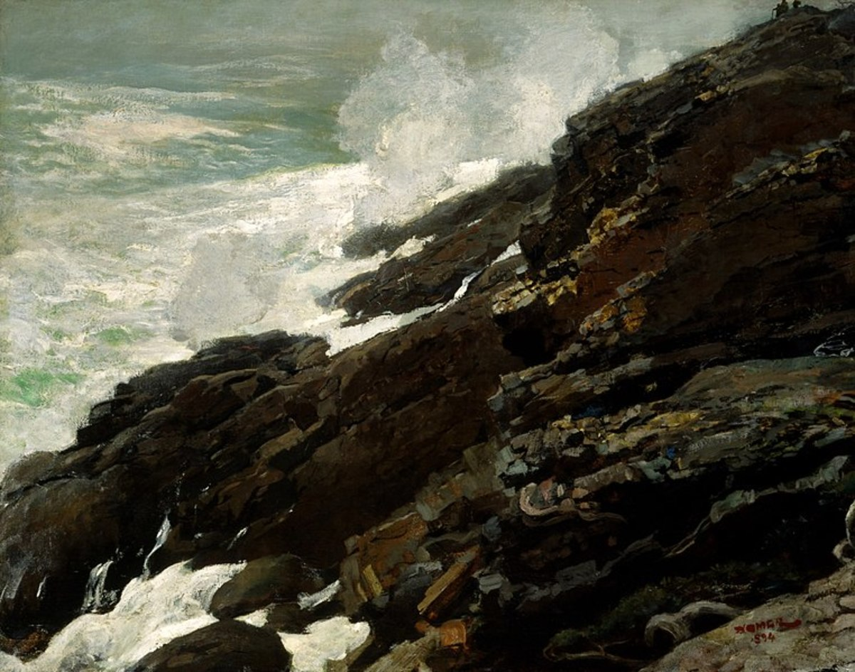 High Cliff, Coast of Maine by Winslow Homer, 1894